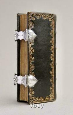 Old & rare Danish Psalm book in fine gilt binding and silver locks 1750