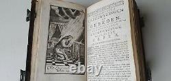 Old & rare prayerbook with beautiful silver locks and full page engravings 1780