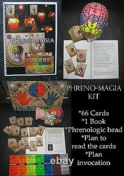 Phrenology tarot card cards book guide head complete kit rare edition vintage