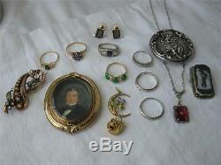 Picture Locket Book Form Antique Victorian 10-12K Gold c1860 Rare Jewel