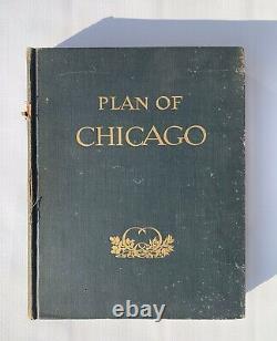 Plan of Chicago By Daniel H Burnham Rare Antique Book 1909 Hardcover 1st Edition
