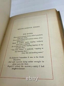 Poe, Edgar Allan POEMS RARE Antique Gilt Victorian FINE Binding 1887 ILLUSTRATED