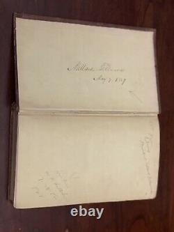 President Millard Fillmore Signed Rare Antique Book 1858 Scientific Discovery