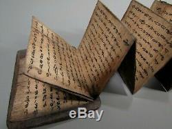 Pustaha Sumatra Batak Toba Ritual Bark Book Manuscript Rare Occult Magic Book