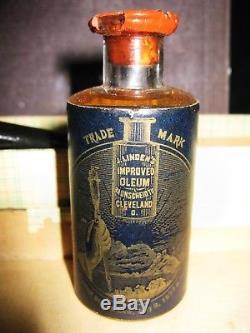Quack baunscheidt medical scarificator, rare full unopened bottle oleum & book
