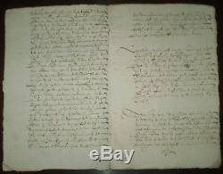 RARE, 1616, ORIGINAL ANTIQUE MANUSCRIPT 9 PAGE LEGAL DOCUMENT, 17th Century