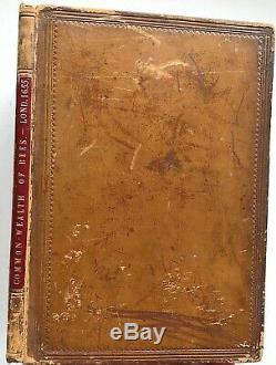 RARE 1655 Hartlib THE REFORMED COMMON-WEALTH of BEES Original Antique BEEKEEPING