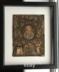 RARE 16th/17th Century Religious Embroidered Book Cover British/Continental