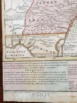RARE 1740 Map of CAROLINA, GEORGIA & FLORIDA, Homann Heirs, Iroquois, Chesapeake