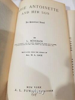 RARE 18 Vol Set L. Muhlbach Historical Fiction Antique Books 1800s History Novel