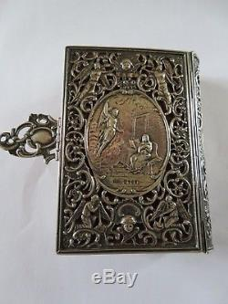 RARE 1825 OFFICIUM HEBDOMADAE SANCTAE, HOLY WEEK BOOK with SILVER COVER