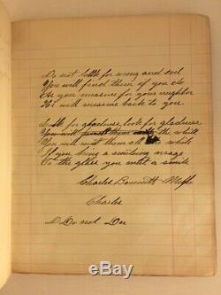 RARE 1870s-1900s Handwritten Cattle FARM Ledger Milford MICHIGAN Cows Recipes MI