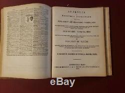 RARE 1875 Antique Vintage Webster's unabridged Dictionary with illustrations