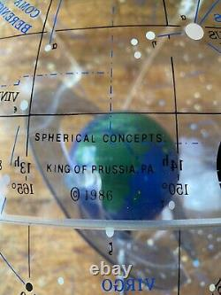 RARE 1986 SPHERICAL CONCEPTS STARSHIP EARTH CELESTIAL GLOBE 16 Box Book Vtg