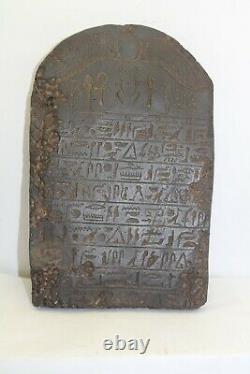 RARE ANCIENT EGYPTIAN ANTIQUE BOOK OF DEAD Stella Stela 1986-1875 BC