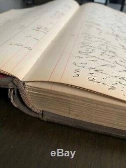 RARE ANTIQUE 1900s French Ledger Book