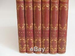 RARE ANTIQUE 6 Volume LEATHER LIBRARY SECRET BOOK BOX / STORAGE / SAFE