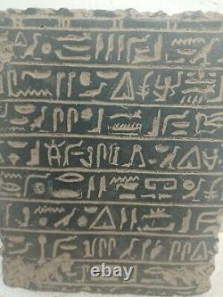 RARE ANTIQUE ANCIENT EGYPTIAN Magic Stela Book of Dead Hiroglyphic 1635-1560 Bc