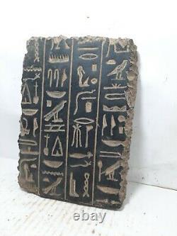 RARE ANTIQUE ANCIENT EGYPTIAN Magic Stela Book of Dead Hiroglyphic 1640-1563 Bc
