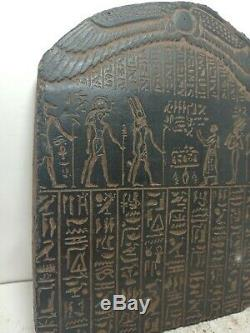 RARE ANTIQUE ANCIENT EGYPTIAN Stela Book of Dead Sacred Paradise 1830-1750 Bc