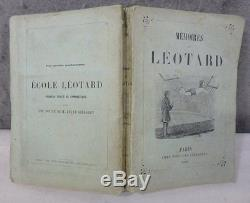 RARE ANTIQUE CIRCUS BOOK 1860 Flying Trapeze Invention MEMOIRES De LEOTARD PARIS
