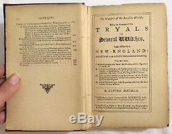 RARE Antique 1862 Cotton Mather WONDERS OF THE INVISIBLE WORLD Occult WITCHCRAFT
