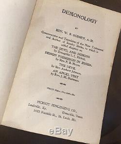 RARE Antique 1902 DEMONOLOGY Godbey Occult Satan DEVIL WORSHIP Demons POSSESSION