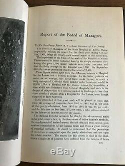 RARE Antique Book Greystone Park Psychiatric Lunatic Asylum Annual Report 1901