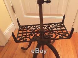 RARE Antique Brass Adjustable Bible / Dictionary / Book Stand. Pat. Dec 10, 1895