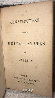 RARE Antique Constitution Of United States / Declaration Of Independence Book
