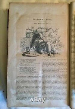 RARE Antique May 1849 Grahams Magazine Edgar Allen Poe, WW Rice, etc Engravings