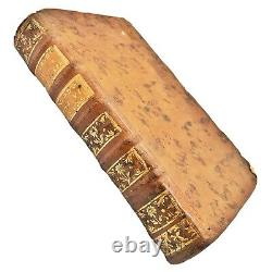 RARE Authentic 1757 Sunday News Leather Bound Book Antique Decor Display A+++