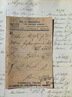 RARE Book HANDWRITTEN Recipes, PRESCRIPTIONS 5,000+ 1872-75 BROOKLYN Apothecary