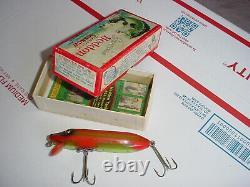 RARE HEDDON 9500 Vamp Fishing Lure Glass Eyes USA Dowagiac Mich Shows BOOK VALUE