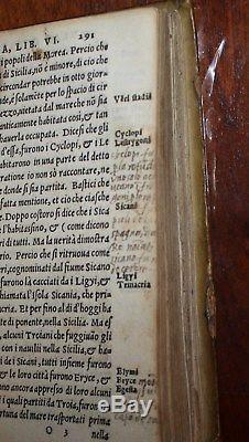 RARE Italian antique book Thucydide Guerre Della Morea Gli Otto Libridi 1545