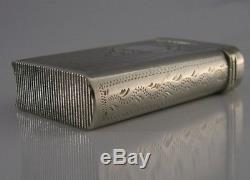RARE NOVELTY BOOK FRENCH SOLID SILVER VESTA MATCH CASE c1890 ANTIQUE