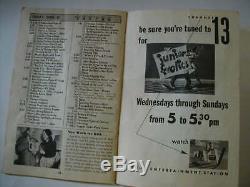 RARE New York Metro 1949 Apr TV Guide Foodini Easter Bunny PINHEAD Henry Morgan