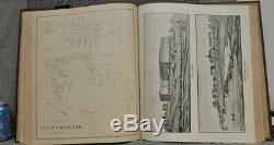 RARE Town & City Atlas State New Hampshire 1892 Hurd 3/4 Leather LARGE 18X15