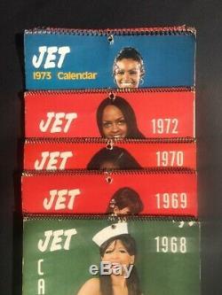 RARE Vintage 1968, 69, 70, 72, & 73 JET Calendar Featuring A Nude JET Beauty