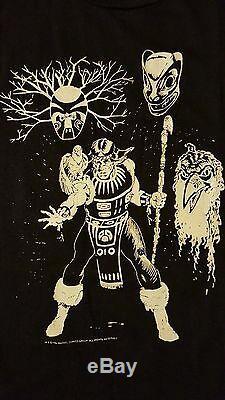 RARE Vintage 80s 1986 Shaman T-Shirt Marvel Comic Book Alpha Flight Superhero