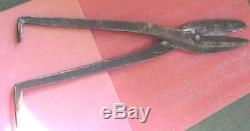 RARE Vintage Millboard Shears cutting tool for making books 1800's Shear