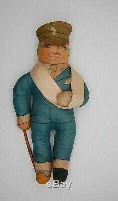 RARE c1915 Deans Rag Book Soldier Doll WW1 Boots Old Antique Teddy Bear Pal