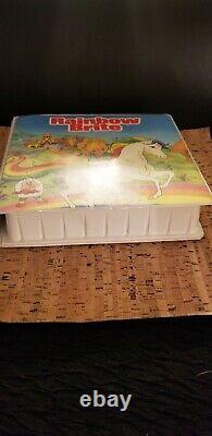 Rainbow Brite VTG 1983 -RARE- Take A Tape Along Cassettes Books Case