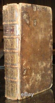 Rare, 1739, Aphorismes De Monsieur Herman Boerhaave, Medical, Antique Leather