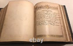 Rare 1875 Antique Catholic Family Holy Bible Douay Rheims Annot. Challoner