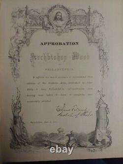 Rare 1878 Antique Catholic Holy Bible Douay Rheims Annot. Challoner T. Kelly Pub