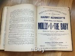Rare 1880s Antique Bound Piano Sheet Music Book 1890s Popular Songs