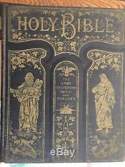 Rare 1892 ANTIQUE LEATHER HOLY BIBLE SELF PRONOUNCING EDITION LIGHT OF THE WORLD