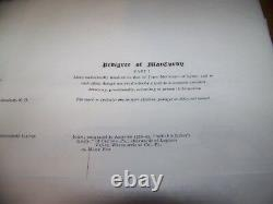 Rare 1892 Antique 29 Pedigree Charts Family Genealogy Book Cole Drake Wolcott+