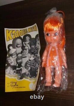 Rare 1960's Japan Made Shiba Era Big Eyes Doll Kiddle. Kiddlie Knits Book